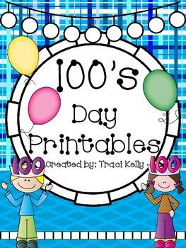 100's Day Celebration HUGE Printable Pack