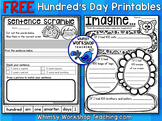 100s Day Free Printables - Whimsy Workshop Teaching