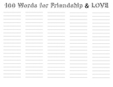 100's Day Word Activity