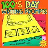 100s Day Writing Prompts | 100th Day of School | Special Education Resource