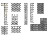 100's Grid Puzzle and Fill in the Missing Number