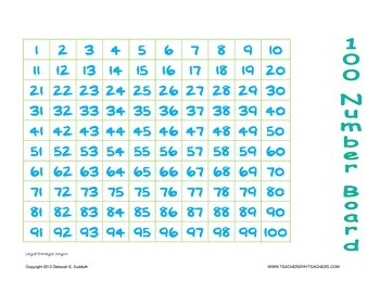 100's Number Board
