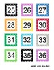 100's Pocket Chart Patterned Numbers