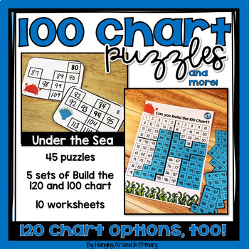 120 Chart Task Cards and Printables - Ocean Themed