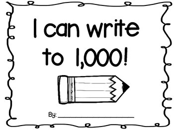 100s chart- Writing up to 1,000