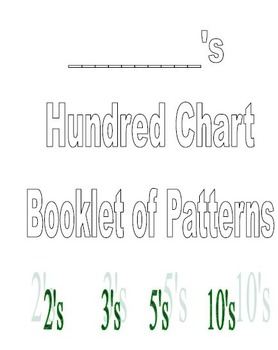 100s chart booklet with patterns of 2, 3, 5, 10.  Color and write.
