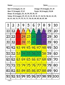 100s chart hidden picture - CRAYONS