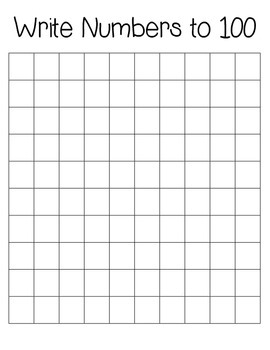 100's chart missing numbers