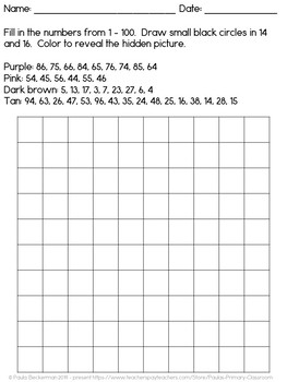 100s chart mystery picture *free*