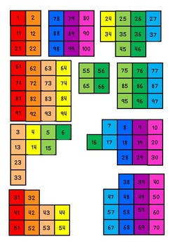 100s chart puzzles