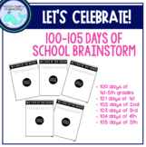 100th-105th Day: Things I've Learned in ___ Grade Brainstorm