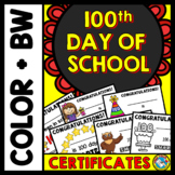 100th DAY OF SCHOOL ACTIVITIES KINDERGARTEN (100 DAY SMARTER CERTIFICATES)