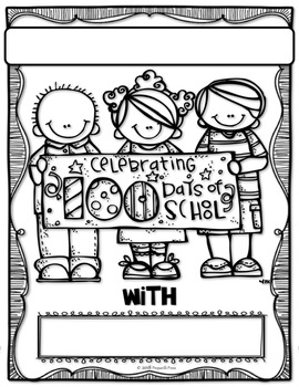 100th DAY of SCHOOL CELEBRATION BOOKLET & FLAP-BOOK