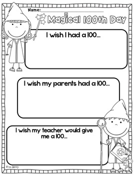 100th Day of School packet (Kindergarten)