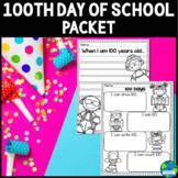 100th Day of School Worksheet Packet (Kindergarten)