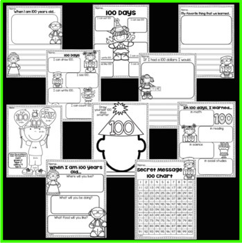100th Day of School Worksheet Packet (Kindergarten)