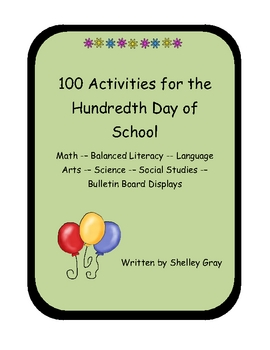 100th Day - 100 Activities for the Hundredth Day of School