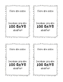 100th Day 100 Days Smarter (Smarties Printable)