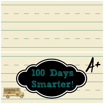 100th Day 100 Days Smarter Treat Bag Topper