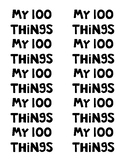 100th Day - 100 Items Bag Labels
