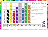 100th Day 100 Jelly Beans Graph for the Smart Board
