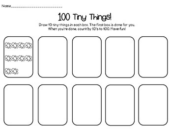 100th Day- 100 Tiny Things!