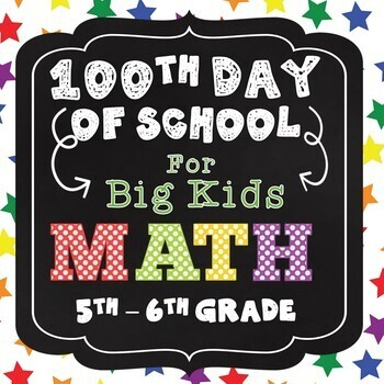 100th Day of School - Math for Big Kids