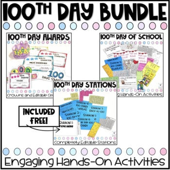 100th Day Activities BUNDLE!