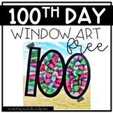 100th Day Activities | 100th Day Window Art | Free 100th D