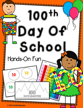100th Day of school Hands on Centers Kindergarten