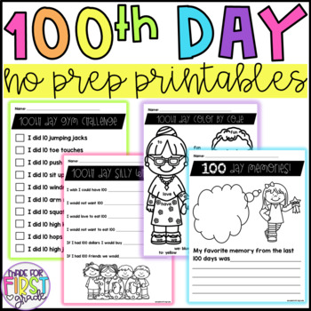 100th Day Activities: No Prep
