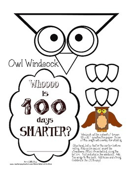 100th Day of School *Owl Theme* ~ Hat ~ Windsock ~ Necklace