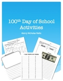 100th Day Activities and Worksheets