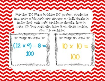 100th Day Activities for Grades 3, 4, and 5!
