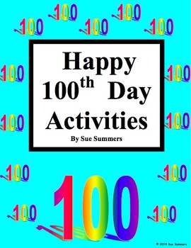 100th Day Activities for the English or Foreign Language Classroom