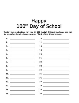 100th Day Activity Bundle