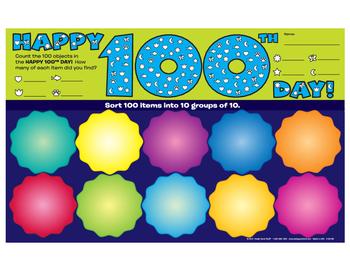 100th Day Activity Mats