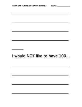 100th Day Activity Packet