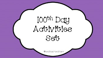 100th Day Activity Set