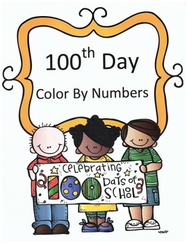 100th Day Math Addition Color By Numbers