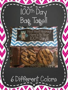 100th Day Bag Tags {FREEBIE}