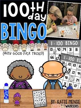 100th Day Bingo with Good Luck Trolls!