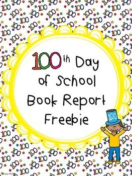 100th Day Book Report Freebie