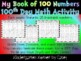 100th Day Book of Numbers 1 to 100 Hundredth Day Math Activity Center K 1