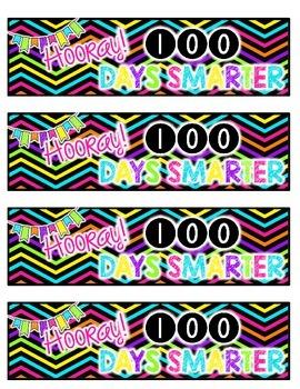 100th Day Bookmark FREEBIE