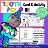 100th Day Card-Making Kit! Poems, Pictures, Text, & Characters!