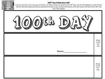 100th Day Celebration Hat with Dots by Teacher's Brain