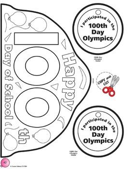 100th Day Celebration Winter Math Activity Grades 1-3