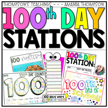 100th Day of School Ready to Print Center Pack