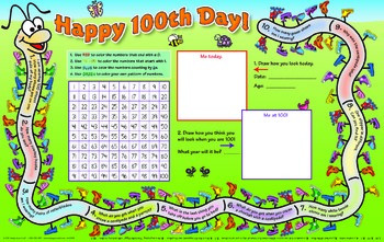 100th Day Centipede Activity Mat